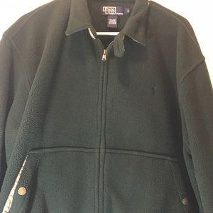 Polo forest green fleece full zip up jacket